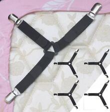 4X Adjustable Bed Sheet Mattress Holder Fastener Grippers Clips Suspender Straps