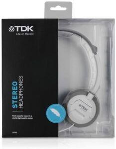 TDK ST100 Over Ear Stereo Headphones White New in box