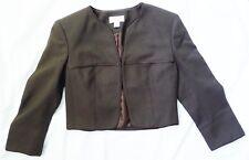 Talbots Cropped Brown Jacket Size 0P Petite 0