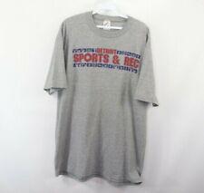 Vintage 90s Streetwear Mens XL Detroit Sports & Rec Spell Out Shirt Heather Gray