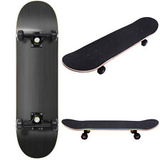 """Blank Complete Skateboard Stained BLACK 7.75"""" Skateboards,Black Ready to ride"""