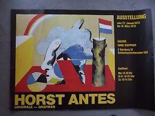 HORST ANTES - Austellungsplakat von 1972 - Galerie Hoeppner, Hamburg