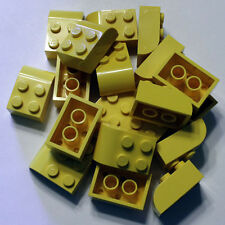 Bulk Lego Pieces: 20 Yellow 2x3 Bricks with curved top ** NEW ** LDraw part 6215