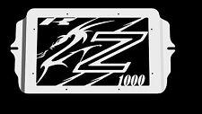 "cache / Grille de radiateur  inox poli Kawasaki Z1000 03>06 design ""Dragon"""