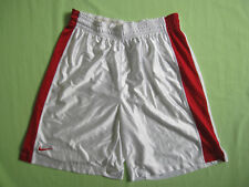 Short Long Nike Ancien Football Basket sport vintage Blanc et rouge - L