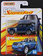 2019 Matchbox Superfast 50th #04 '18 Range Rover LWB BALMORAL BLUE / MOC
