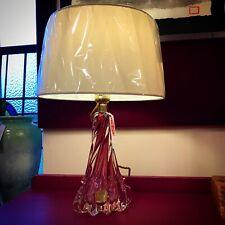 Mid Century Crystal Val Saint Lambert Lamp (original label still in place)