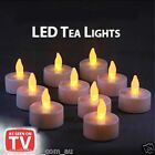 LED TEA LIGHT TEALIGHT CANDLE CANDLES FLAMELESS WEDDING DECOR BATTERY INCLUDED