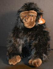 "Ty Classic /Plush ""Baby George"" the Gorilla Ape 11.5"" Long Fur Medium Brown Face"