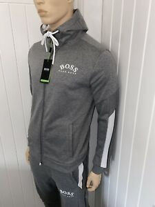 Hugo Boss Tracksuit Hooded Jacket & Pants Mens Grey New Season Size XLarge £119