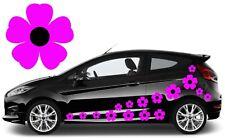 32 Rosa Y Negro Flor coche calcomanías, pegatinas, pegatinas de gráficos de coche, Daisy