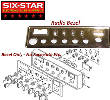 New Chrome Front Bezel - Galaxy DX-55 DX-66 CB 10 Meter Radio  - No FacePlate