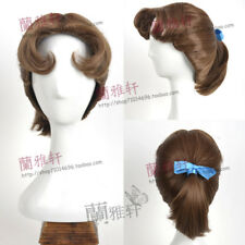 Peter Pan anime Wendy Darling Anime +Bow Costume Cosplay Wig +CAP