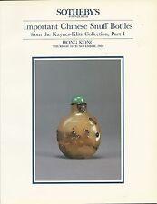 SOTHEBY'S HK CHINESE SNUFF BOTTLES Kaynes-Klitz Collection Part I Catalog 1989