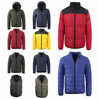 Mens Brave Soul Lightweight Puffer Quilted Padded Puffa Spring Jacket NEW AW1718