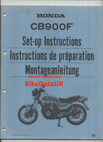 Genuine Honda CB900F Super-Sport (1983->) PDI Set-Up Manual CB 900 F FD BG89