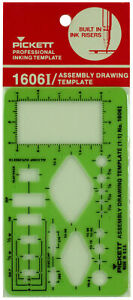 Pickett Professional Inking Template Assembly Drawing Template 1:1 Ratio