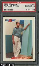1992 Bowman #302 Mariano Rivera New York Yankees RC Rookie PSA 10 GEM MINT