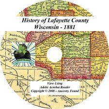 1881 History Genealogy of LAFAYETTE County Wisconsin WI