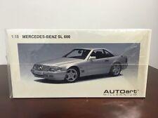 New RARE 1/18 AutoArt 1997 Mercedes Benz SL600 Silver AMG