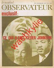 Le nouvel observateur n°179 du 17/04/1968 USA Beaufre Duvignaud Tunisie Weil