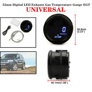 52mm Car Truck  Digital LED Exhaust Gas Temperature Gauge EGT With Cable&Sensor