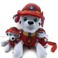 Paw Patrol Plush Toy Marshall Dalmatian - Pocket & Carry Strap Bundle Of 3 Items