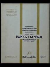 EXPOSITION DES ARTS DECORATIFS 1925 - RAPPORT GENERAL- VOL. XI - RUE ET JARDIN