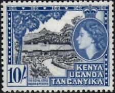 K.U.T.1954 QEII  10/- Black & Deep Ultramarine   SG.179 Mint (MNH)