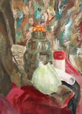 ABSTRACT  GOUACHE PAINTING STILL LIFE