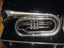 ADAMS Silver-plated Marching Baritone with Hard Case and Mouthpiece