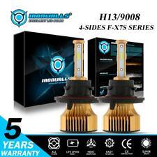 4sides H13 9008 2500W LED Headlight Hi Lo Beam Bulbs Kit for GMC Yukon 2008-2012