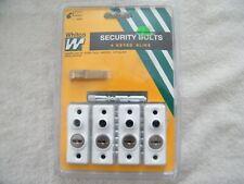 Whitco Window Security Bolt Lock & Key Set of 4 New window bolt locks with keys