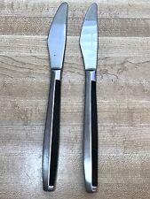 Set of 2 Stainless steel and Black Bakelite Handle Steak Knives