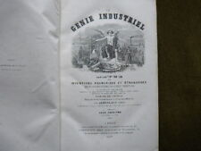 LE GENIE INDUSTRIEL  1857 Tome 7 et 8 Chemins de Fer Agriculture Inventions
