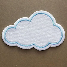 Cloud Sky Cartoon Happy Kids Cute Pretty Iron on Patch Embroidered