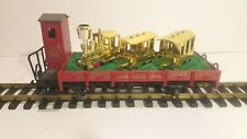 LGB G SCALE 41124 30th ANNIVERSARY FLAT CAR WITH  3 GOLD GNOMY  IN OB