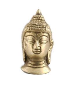 Busto Testa Budda IN Ottone Supporto a Muro Peterandclo