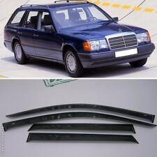 For Mercedes-Benz E S124 84-96 Window Side Visors Sun Rain Guard Vent Deflectors