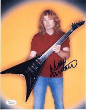 Dave Mustaine Musician Megadeath Signed 8x10 Photo - JSA COA