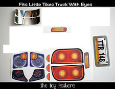 Replacement Decals Stickers Fits Little Tikes Cozy Truck Partial Set No Face