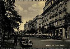 ROMA Rom ~1950 Cartolina Italiana Postkarte Italien Via Vittorio Veneto Auto