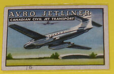 Avro Jetliner Canadian Civil Jet Transport #30 Trading Card Great Picture! See!