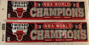 Vintage Wincraft Chicago Bulls Championship Bumper Stickers Michael Jordan 1993