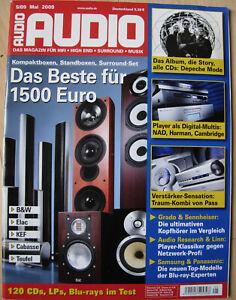 Audio 5/09 B&W CM 5, Elac BS 244, Linn akurate DS, Pass XP20 & XA100.5, KEF iQ90