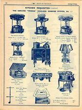 1908 ADVERT Primus Wickless Cooking Stoves Hestia Lilliput Sad Iron Heater