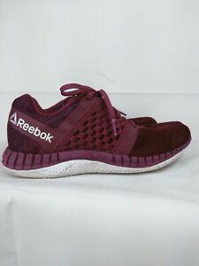Reebok Size 8.5 Women's Running Shoe Sneaker Berry 023501 416 Flyknit