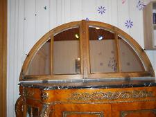 WANDSPIEGEL-/ SPIEGELFENSTER 4 teilig - Holzfenster mit Sprossen bogenförmig