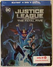 NEW DC JUSTICE LEAGUE VS THE FATAL FIVE BLU RAY DVD TARGET EXCLUSIVE STEELBOOK