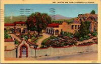 Vtg 1930's Outside View of San Juan Capistrano Mission in California CA Postcard